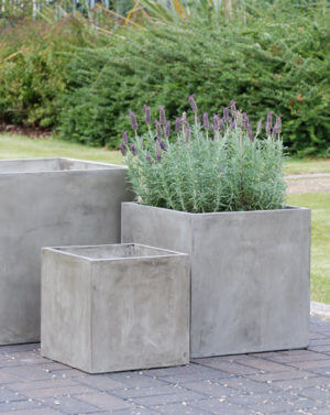 Large Lightweight Concrete Planters and Garden Pots